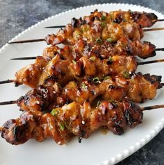 Teriyaki Chicken Skewers   Amanda Cooks & Styles Grilling Recipes, Beef Recipes, Healthy Recipes, Cooking Recipes, Turkey Recipes, Teriyaki Chicken Skewers, Chicken Kabobs, Teriyaki Sauce, Recipes