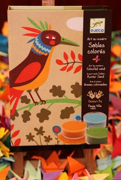 Caja manualidades: arenas de colores Colored Sand Art, Presents For Kids, Kids Toys, Numbers, Christmas Gifts, Birds, Activities, Bedding, Paradise
