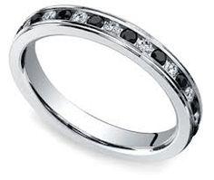 black diamond eternity ring - Google Search