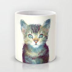 Cat // Aware Mug by Amy Hamilton | Society6 $15