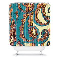Arcturus Octopus Shower Curtain  This looks crazy