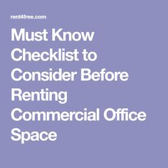 If you are opting rental office space for your business in metro cities you have to do it carefully.Here is the checklist which might be useful for you to search out the commercial office space for rent in Chennai and Bangalore