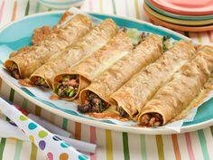 Turkey and Spinach Taquitos Recipe : Giada De Laurentiis : Food Network - FoodNetwork.com