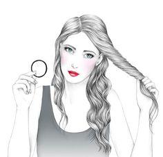 Beach waves hair tutorial (in French). Tuto du look Beach Waves