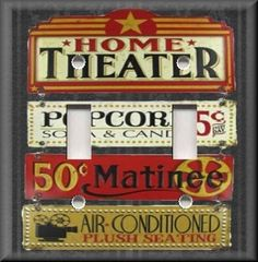 Light Switch Plate Cover - Home Theater - Movie Room Home Decor
