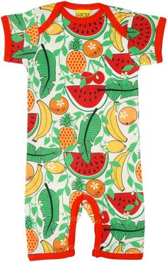 ede09b10 Tropical Fruits Vanilla Summer Suit in GOTS Certified Organic Cotton from DUNS  Sweden – Availale at. Modern Rascals