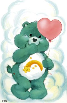 Care Bears: Wish Bear with a Balloon