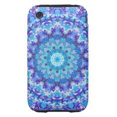 Blue Mandala Design iPhone 3 Tough Cover