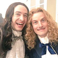 The amazing Alexander Vlahos & Evan Williams on the set of Versailles season 2