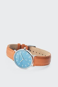 GOOD AS GOLD | Streetwear, Fashion, Sneakers & Accessories — Classic Watch - sea salt blue/tan leather