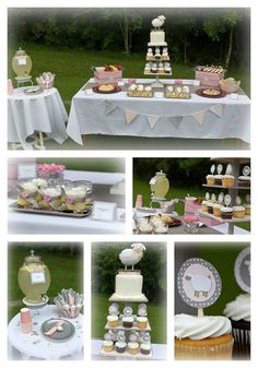 Lamb baby shower party package. Perfect for the mom to be.