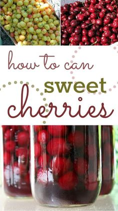 Easy Homesteading: Canning Sweet Cherries A Step-By-Step Guide Canning Tips, Home Canning, Canning Recipes, Jam Recipes, Canned Cherries, Sweet Cherries, Canning Food Preservation, Preserving Food, Frugal Living Nw