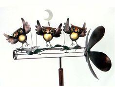 Dancing Owls Whirligig