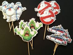 Ghost Busters ispirato toppers cupcake di DandelionPaperDecor