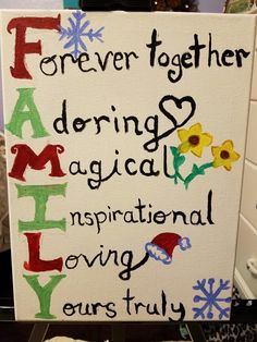 Perfect way to describe a Family. It will be a great Christmas gift.