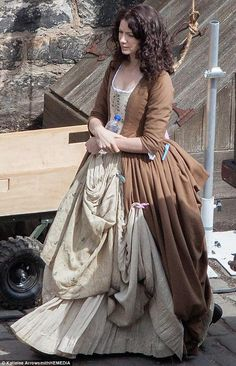 "Filming Season 2 Starz ""Outlander"" Series: Claire Beauchamp Randall Fraser, played by actress Caitriona Balfe."