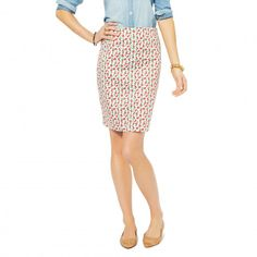 Pencil Skirts - Cherry Printed Pencil Skirt | C. Wonder