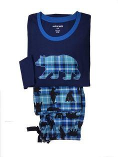 Pijama Hatley Blue Plaid Bear - Ref: TSUWIBE297 - Esquijama combinado en punto de algodón para usar todo el año - Pijama para hombre de osos - ENVÍO 24/48h - 100% algodón. #ropaInterior #ModaHombre http://www.varelaintimo.com/40-pijamas