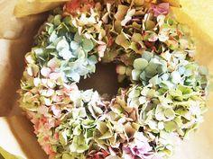 Gorgeous hydrangea wreath #Flowers
