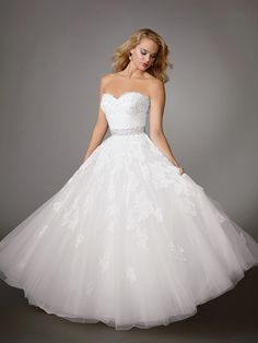 romantic ball gown ... Jordan Reflections Wedding Dresses - Style M204 #wedding #dresses