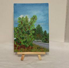 Original Acrylic Landscape by Capturedoncanvasshop on Etsy