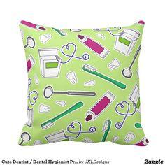 Cute Dentist / Dental Hygienist Print Green Purple
