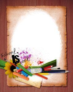 crayons de couleurs,articles d ecole Fantasy Background, Frame Background, Paper Background, School Board Decoration, School Decorations, Borders For Paper, Borders And Frames, Graduation Album, School Border