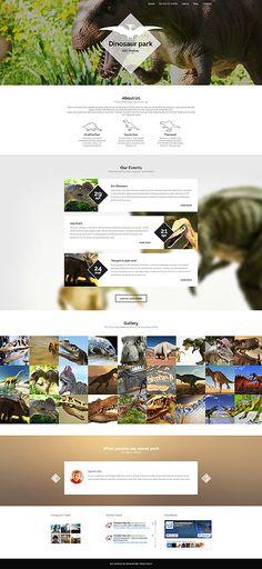 Template 55806 - Dinosaur Park  Responsive WordPress  Theme