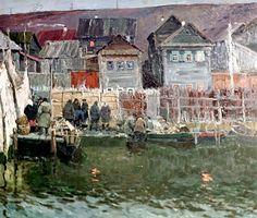 'Galich. Fishing Village' 'Galich. Fishing Village', by Vladimir Stozharov (b. 1926). Oil on canvas. 1962. Reproduction.