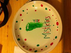 Plate , sharpie paint pens and enamel paint bake at 350 25 minutes !