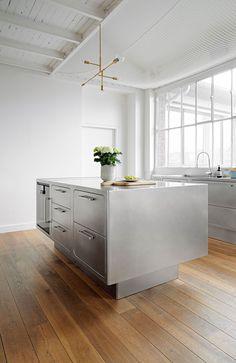 Alberto Torsello Designs A Fully Stainless Steel Kitchen