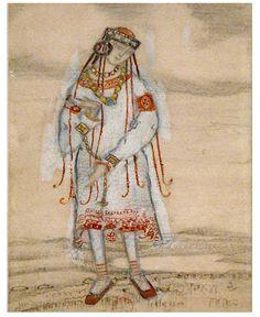 Costume design by Nicolas Roerich for Le Sacre du Printemps, 1912