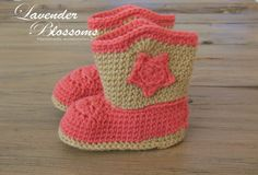Cowboy Boots Crochet Baby Cowboy Boots Newborn by LavenderBlossoms, $21.00