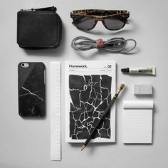 Black goes with everything. Our abstract print notebook is inspired by shattered…