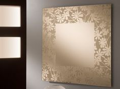 11 Decorative Wall Mirrors from Italian Designer, Add Beauty to Your Room Instantly square-shaped-Italian-decorative-wall-mirrors-with-floral-flower-embossed-frame-design-idea – iSpace Design