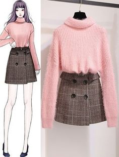 ★★Mẫu mới mỗi tuần 15/01 - SeoulSugar Korean Girl Fashion, Korean Fashion Trends, Ulzzang Fashion, Fashion Drawing Dresses, Fashion Illustration Dresses, Fashion Dresses, Fashion Design Drawings, Fashion Sketches, Teen Fashion Outfits