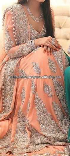 Bridal wear dress  Hand embroidered  Fine quality  Lastest design  Customization acceptable