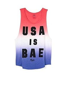 Victorias Secret PINK Americana Boyfriend Tank Small USA Is Bae * Continue to the product at the image link.