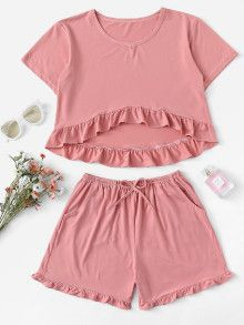 Cute Lazy Outfits, Summer Work Outfits, Stylish Outfits, Loungewear Outfits, Pajama Outfits, Sexy Pajamas, Pyjamas, Pjs, Baby Frock Pattern