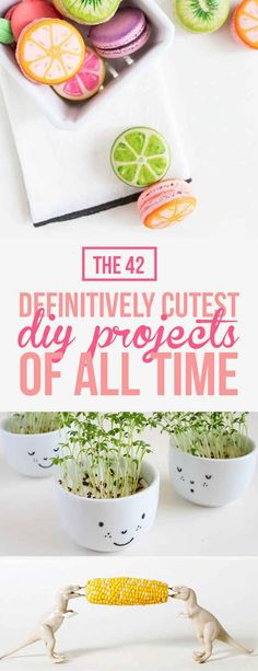 The 42 Definitively Cutest DIY Projects Of All Time (dinosaur corn on the cob holders!):