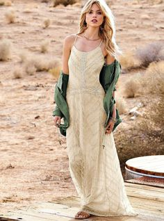 Sheer bottom maxi dress victoria s secret
