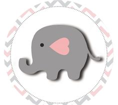Baby Elephant in Grey and Pink Chevron: Free Printable Boxes and Free Party Printables. Baby Shower Printables, Baby Shower Invitations, Free Printables, Party Printables, Elephant Applique, Cute Elephant, Dibujos Baby Shower, Birthday Decorations At Home, Baby Shawer