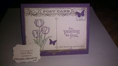 Stampin' Up!  2014 Occasions catalog, Blessed Easter, post card stamp, www.maryellen.stampinup.net