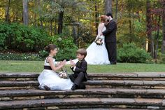 Love this! A must do wedding photo with the flower girl and ring bearer!
