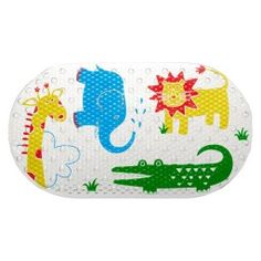 Zoo Animals Non Slip Bath Mat