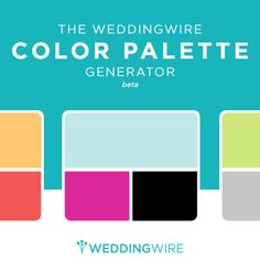 Need help determining your wedding colors? WeddingWire has a tool for that! Get started »