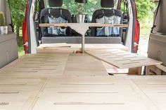 Removable, Ecologic, Fast and Easy to Install Conversion kit Roadloft. Fits most minivans, Dodge Grand Caravan, Sienna or Odyssey. Caravan Conversion, Minivan Camper Conversion, Suv Camper, Camper Van, Honda Odyssey, Dodge, Mini Caravan, Cutting Board Storage, Van Bed
