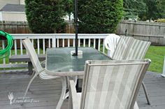 Outdated Patio Set Rustic Makeover  USE REDWOOD OR CEDAR IT ISN'T TREATED SO IT'S SAFER AND WILL LAST LONGER