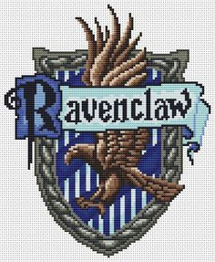 Ravenclaw House Crest cross stitch pattern
