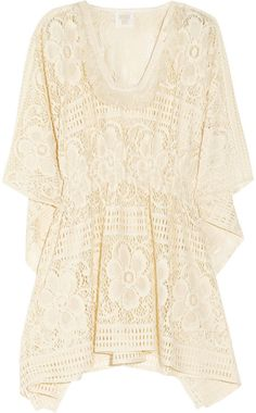 Anna Sui Floral Crochet Tunic